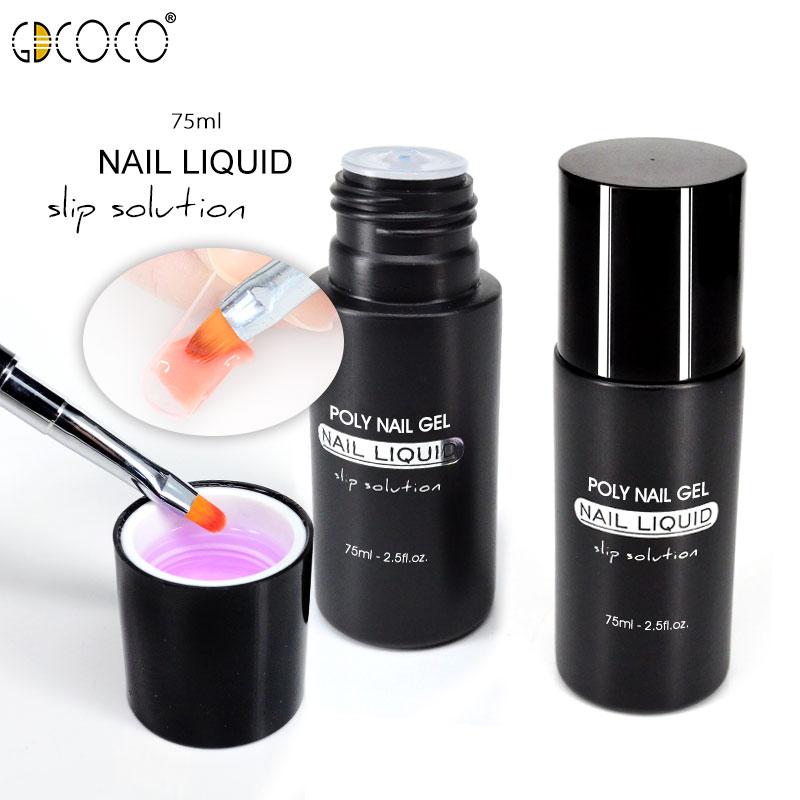 #86139 Poly Gel Liquid For Soak Off UV LED Extension Gel Nail Brush Slice Tip Gel Nail Polish Manicure Acrylic Gel Slip Solution