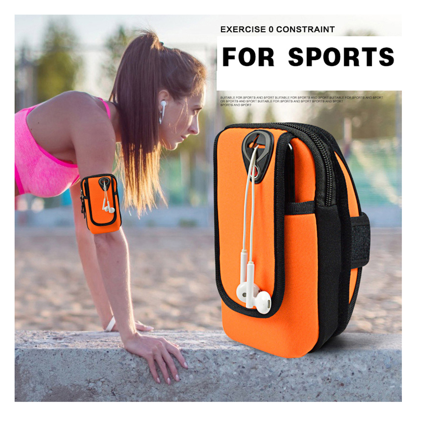 Universal Arm Bags Cases 6 Inch Coins Purse Sports Phone Mobile Wallet Key Package Arm Shoulder Strap Running Belt Mini Bag