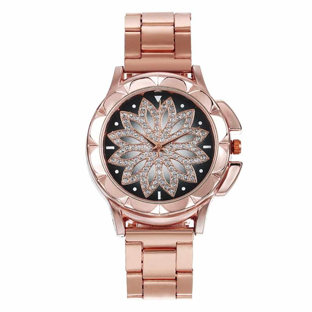 2019 yeni avrupa kadınlar saatler bayanlar yıldızlı gökyüzü İzle kuvars saatı Casual kadın paslanmaz çelik saat Relogio Feminino