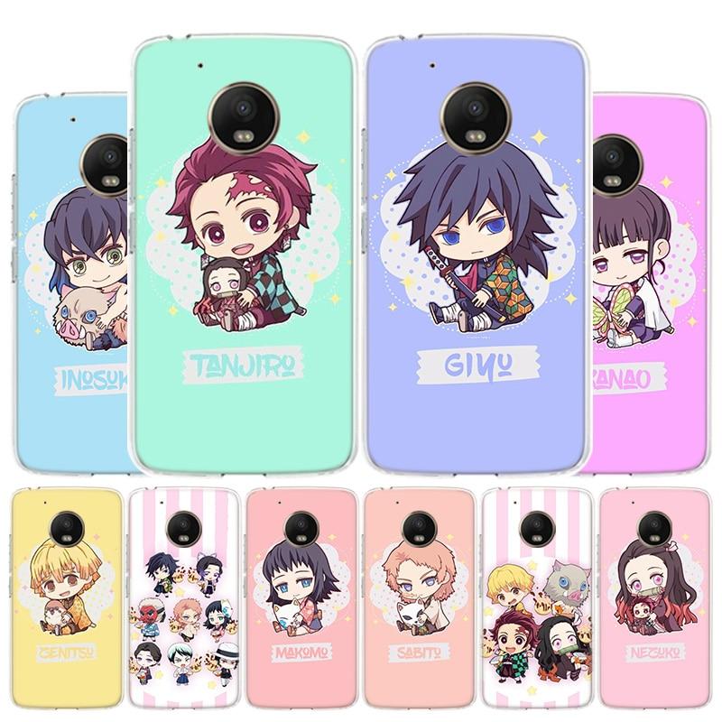 Demon Slayer Kimetsu No Yaiba Cute Phone Case For Motorola Moto G8 G7 G6 G5S G5 G4 E6 E5 E4 Plus Play Power One Action X4 Cover