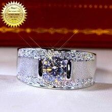 18K goldr ring 1ct D VVS moissanite men ring Engagement&Wedding Jewellery with c