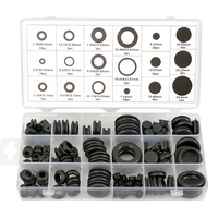 125 Piece Rubber Grommet Eyelet Ring Gasket Assortment Set Of 18 Different Sizes  With See Through Divided Organizer Case –For A|Polishing Pads|   -