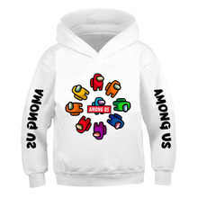 Among Us 2021 5-14 Years Boys Hoodies Impostor Cotton Streetwear New Video Game kids Sweatshirt Girls Autumn and winter Pullover