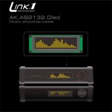 LINK1 OLED מוסיקה אודיו ספקטרום מחוון מגבר מהירות מתכוונן AGC מצב 15 רמה