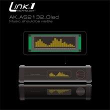 LINK1 OLED Amplificador de espectro de Audio, indicador de espectro de música, velocidad ajustable, modo AGC, 15 niveles