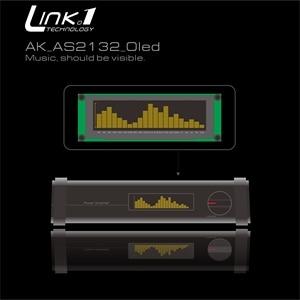 Image 1 - Link1 oled música indicador de espectro áudio amplificador velocidade ajustável agc modo 15 nível