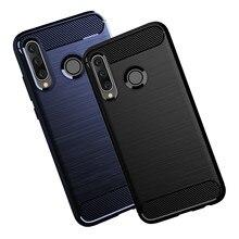 Honor 10i caso silicone flexível tpu capa de fibra carbono padrão escovado casos para huawei honor 10i 10 lite honor10i telefone caso
