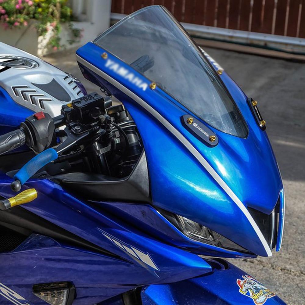 Parabrisas de motocicleta Kodaskin, parabrisas, pantalla de viento, cubierta de parabrisas, accesorios para R15 V3.0 r15 v3 yzf Kit aerodinámico de 2 uds. Para motocicleta, Kit de alas para Honda NC, CB, CBR, Kawasaki, Ninja ZR, ZX, Yamaha y YZF, en blanco, negro y rojo