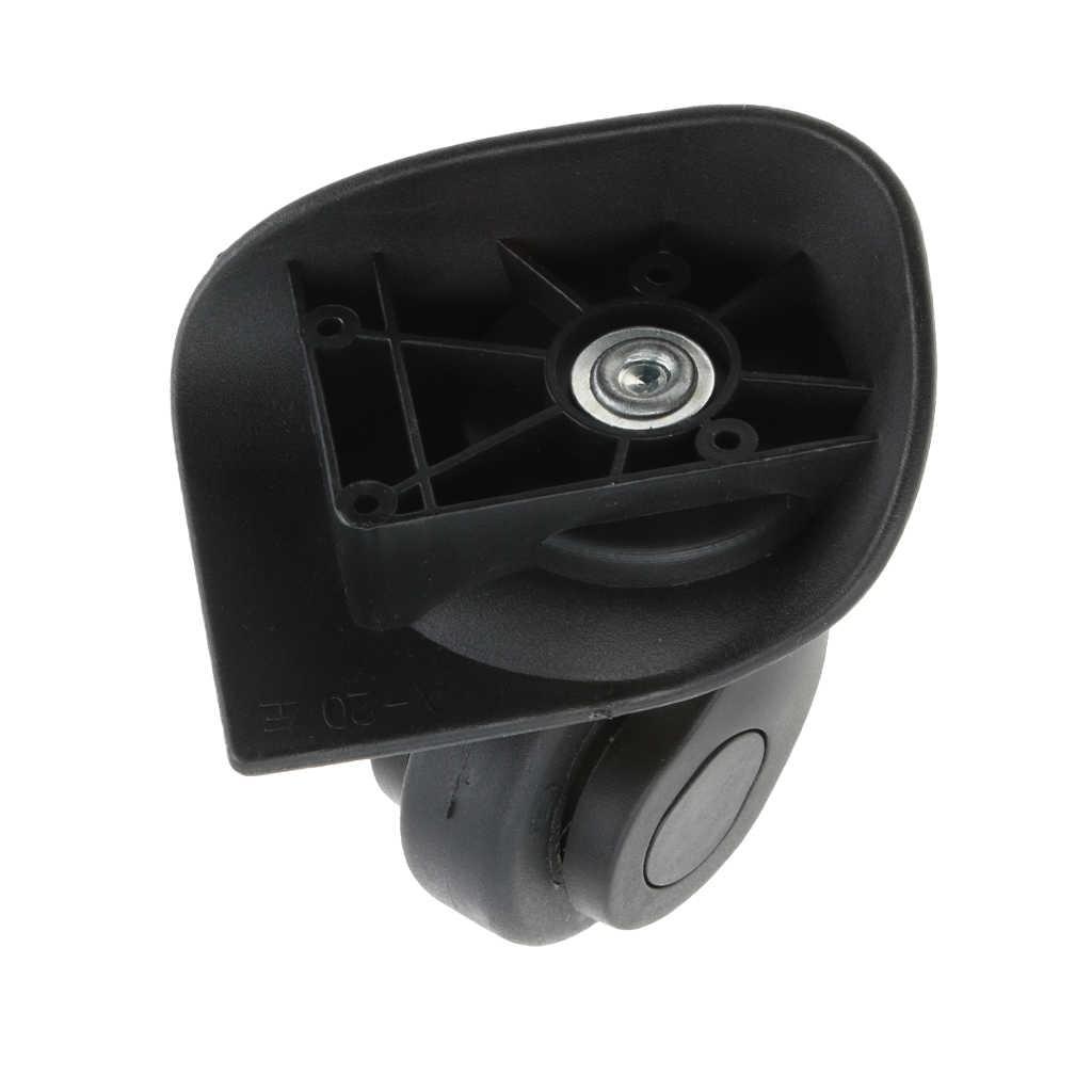 4 stück A20 Koffer Gepäck Stumm Räder Ersatz Rollen für Trolley Schwarz-Einfache Installation
