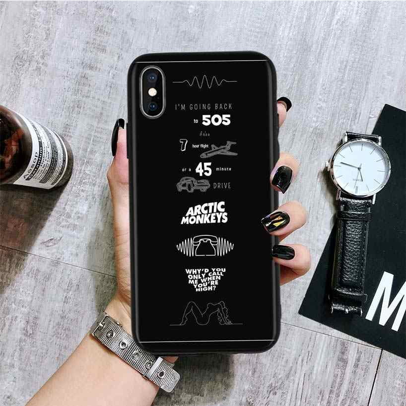 ARCTIC MONKEYS Rock Roll czarna tylna okładka etui na telefon do Apple IPhone 11 Pro XS MAX XR 7 8 6 6S Plus X 10 dziesięć 5 5S SE Coque Shel