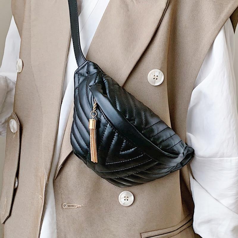 Casual Chest Bags For Women 2020 Crossbody Bags Tassel Shoulder Messenger Bag Female Fashion Handbags And Purses Waist Bag