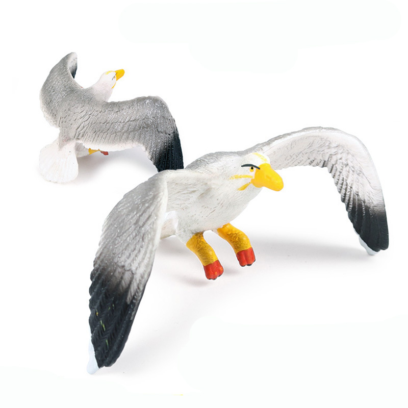 Seagull  Animal Figure Collectible Toys Birds Animal Cognition Action Figures Kids Plastic Model Toys