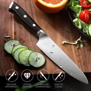 Image 5 - XINZUO cuchillo multifunción de acero, 5 pulgadas, Alemania 1,4116, cuchillos multiusos de cocina, cuchillas afiladas para cortar