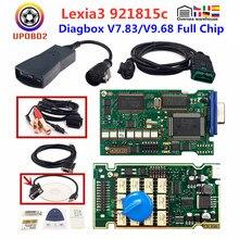 V9.68 completo chip lexia3 pp2000 diagbox obd 2 scanner ferramenta v7.83 lexia 3 obdii carro ferramenta de diagnóstico lexia 3 firmware 921815c