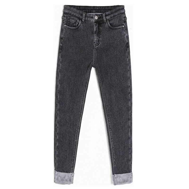 Vadiming женские джинсы 2019 осенние и зимние корейские джинсы с высокой талией черные широкие брюки женские свободные прямые брюки для папы - 5