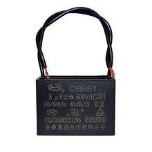 Cbb61 ventilador ventilador de teto capa do motor de arranque capacitor 500 v 0.8 / 1 / 1.5 / 1.8 / 2 / 2.5 / 3 / 4 uf 2 peças-1 lote