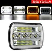 """500w 7x6 """"светодиодный фар янтарь для jeep wrangler высокое/низкая"""