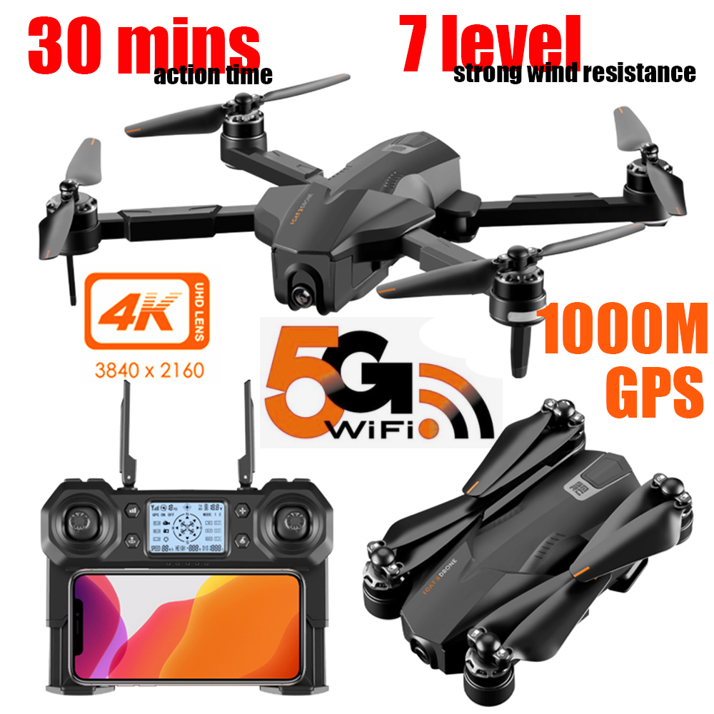 Special Offer for  GPS Quadcopter With 4K Camera HD Wide Angle FOLLOW ME FPV 30mins long flight Foldable brushless 5G