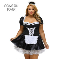 Comeonlover Halloween Satin French Maid Adult Uniform Fancy Dress Costume Plus Size Bavarian Dress Exotic Sexy Kostuum CI80704