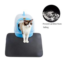 o1PCS Pet Cat Litter Mat Double Layer EVA Non-slip Pad Sand Cat Toilet Leather Waterproof Clean Pad Cats Clean Accessories(China)
