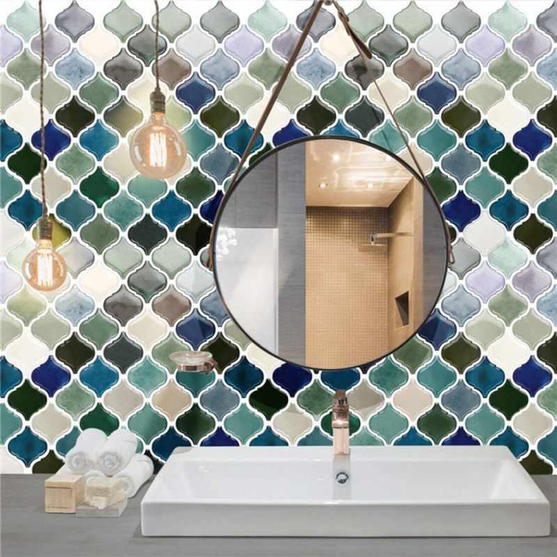 自己接着モザイクタイルステッカー、キッチン Backsplash の浴室の壁タイルステッカーの装飾防水 PVC タイルステッカー