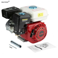 Almacén en el extranjero motor de gasolina refrigerado por aire 4 tiempos 6.5HP de arranque por cuerda 168F OHV motor de gasolina de repuesto