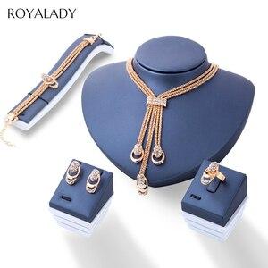 Fashion Rose Gold Crystal Jewe
