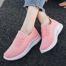 Sneakers Women Shoes 2020 Summer Casual Fahion Harajuku Black Pink Mesh Flats Sports Run Calzado Mujer Outdoor Tenis Feminino 40