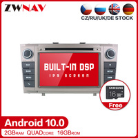 DSP Android 10.0 Car DVD Stereo Multimedia player For Toyota T27 Avensis 2009 2014 Auto PC Radio GPS Navi Video Audio head unit