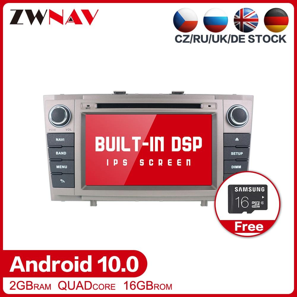 DSP Android 10.0 stereo dvd do samochodu odtwarzacz multimedialny dla Toyota T27 Avensis 2009-2014 Auto PC Radio nawigacja gps wideo Audio jednostka główna