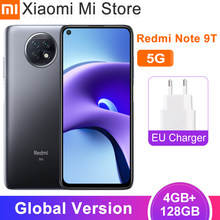 Global sesión Xiaomi Redmi Nota 9T 5G Smartphone 4GB RAM 128G ROM de la dimensión 800U 5000mAh batería de la batería 48MP cámara trasera 6,53 ''FHD NFC