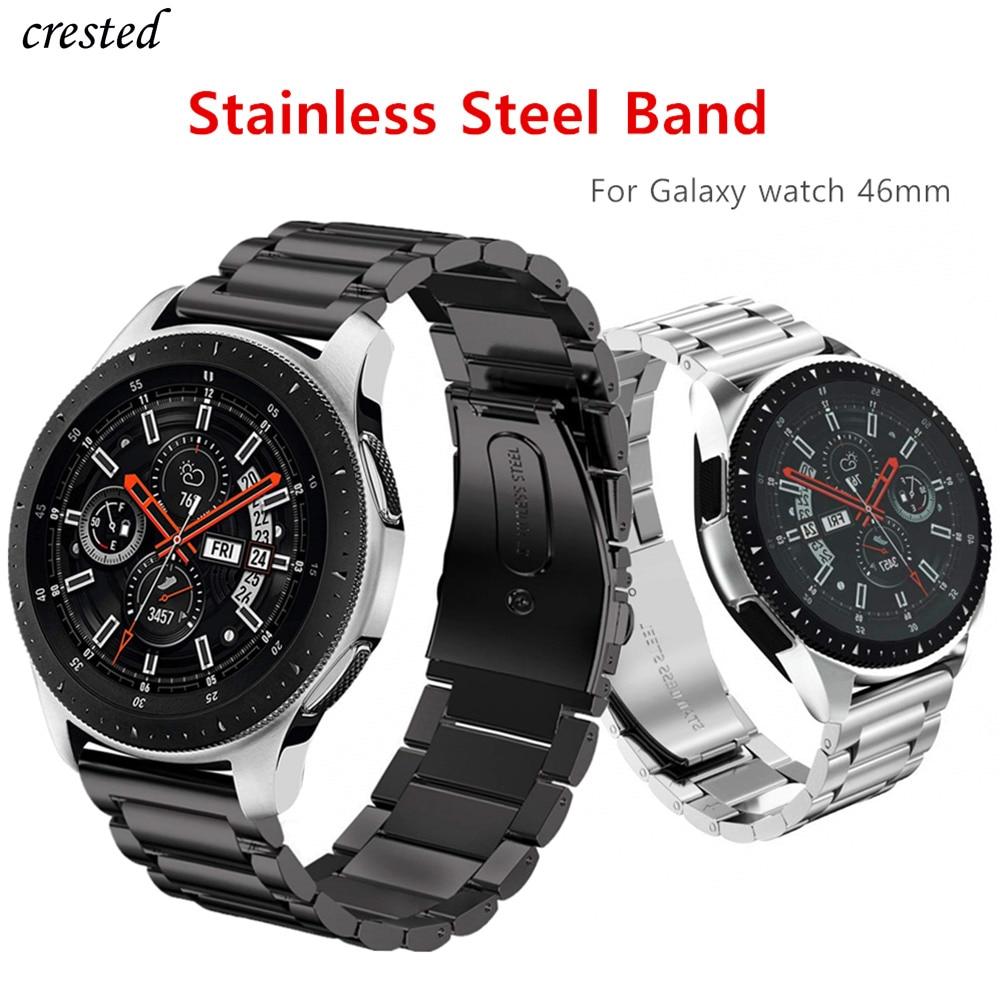 Ремешок из нержавеющей стали для Samsung Galaxy watch 3, металлический браслет для Gear S3 Frontier 22 мм Huawei watch GT/2/2e, 45 мм/46 мм