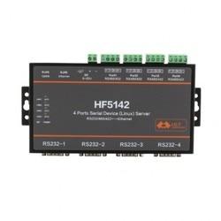 HF5142B 4-портовый RJ45 RS232/485/422 серия в Ethernet бесплатно RTOS последовательный сервер конвертер устройство
