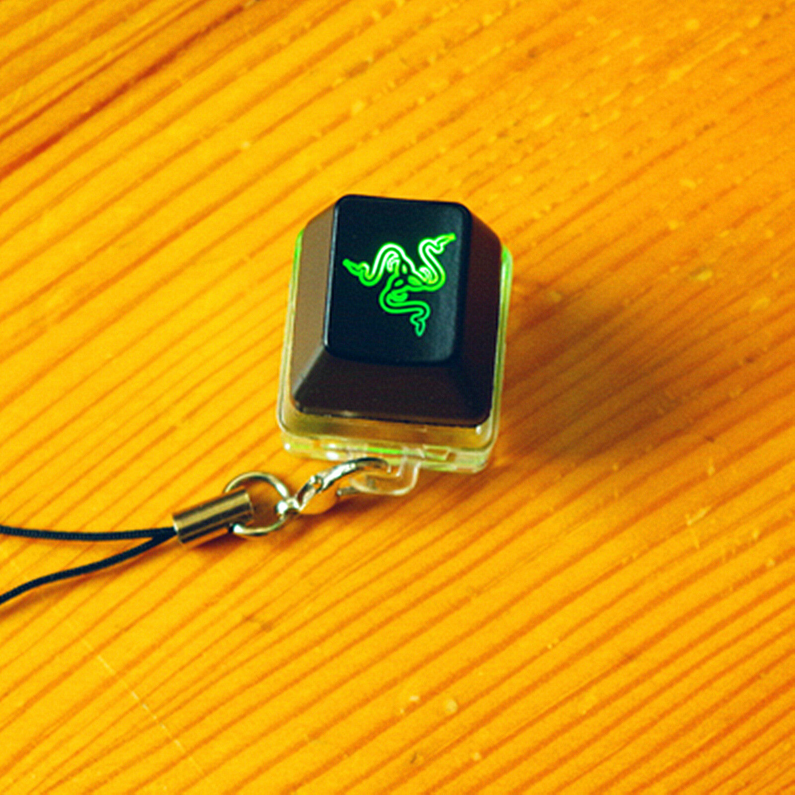 Razer OW Overwatch Keycap + Razer Green Switch Cherry MX Blue Switch Tester Kit Keychain Lighting Up