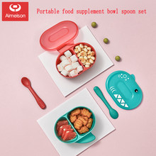 Aimeison Kechao Children's Cutlery Set Baby Bowl Spoon Baby Eating Complementary Food Bowl Shatter-resistant Bowl(China)