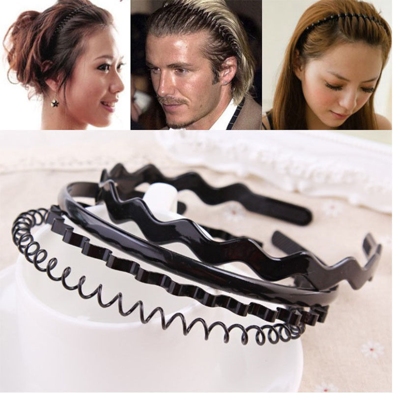 Fashion PU Leather Wide Headband Shining HOT Chain Head Hoop Hair Accessories BS