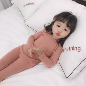 Image 3 - Spring Baby Boy Girl Soft Cotton Pajamas Clothes Set Sleepwear Nightwear Outfit for Newborn Infant Children Cloth Kid Clothing