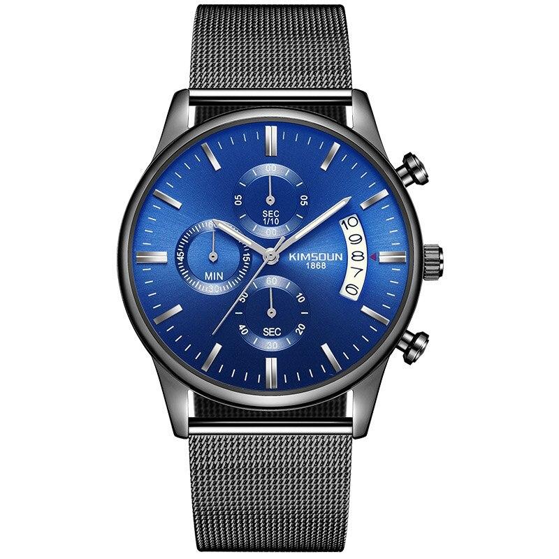 KIMSDUN Mens Watches Top Brand Luxury Sports Quartz Ultra-thin Watch Men Fashion Waterproof High Quality Dropshipping