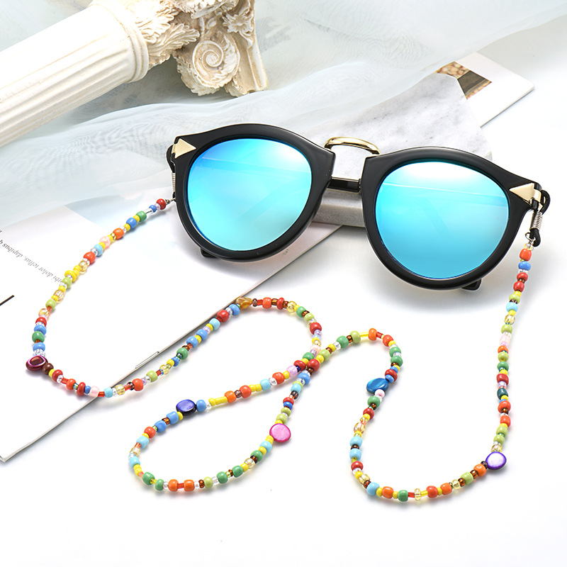 1PCs Colorful Women Glass Beaded Eyeglass Chains Sunglasses Reading Glasses Chain Eyewears Cord Holder Neck Strap Rope Lanyards