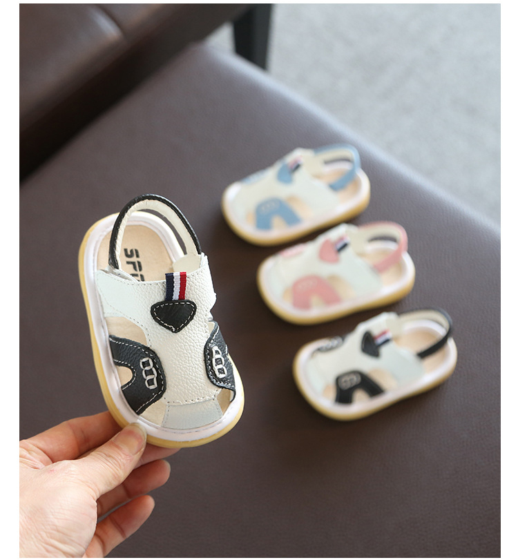 2019 Summer Baby Girls Boys Toddler Shoes Infant Leather Casual Shoes Soft Bottom Non-slip Kids Anti-collision Shoes