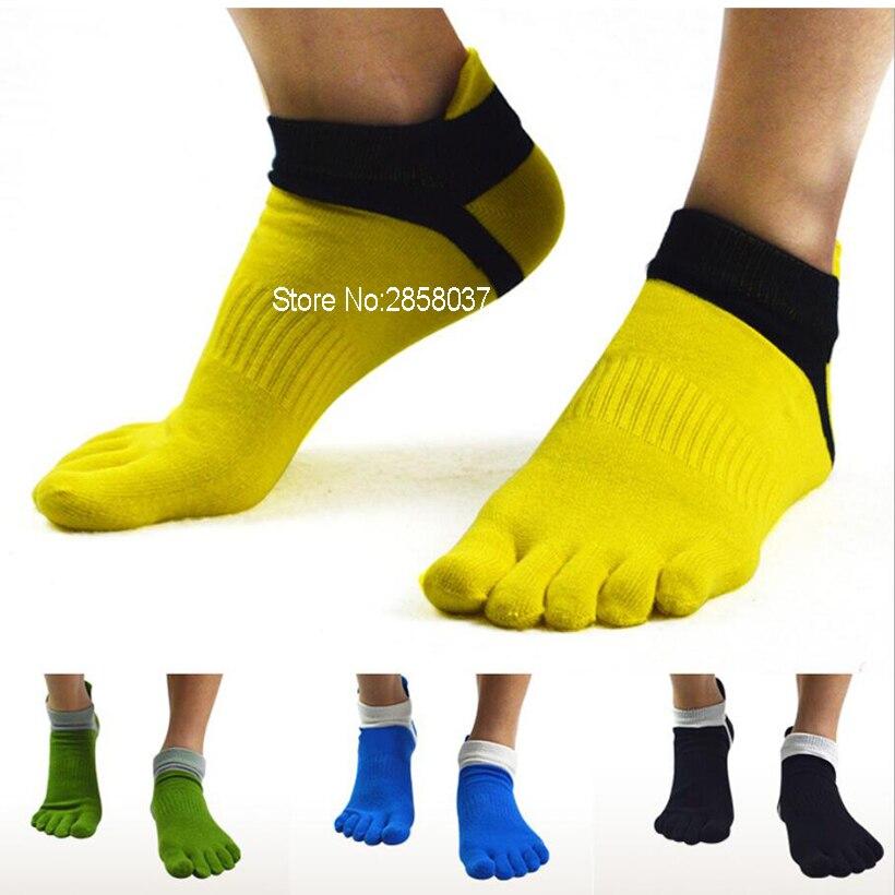 1 Pair 78% Cotton Outdoor Summer Spring Men Toe Socks Sport Mesh Ankle Five Finger Socks Men's Thin Socks 39-44 6 Colors