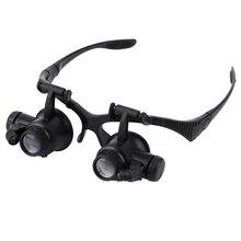 цена на 1pc 20x Magnifier Magnifying Eye Glasses Loupe Lens Jeweler Watch Repair Tool jeweler's loupe Handsfree eyeglasses legs