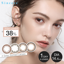 Sincere-vision Brand 2pcs/pair FAIRY 1day Contact Lenses 0-900 diopter Beautiful Pupil