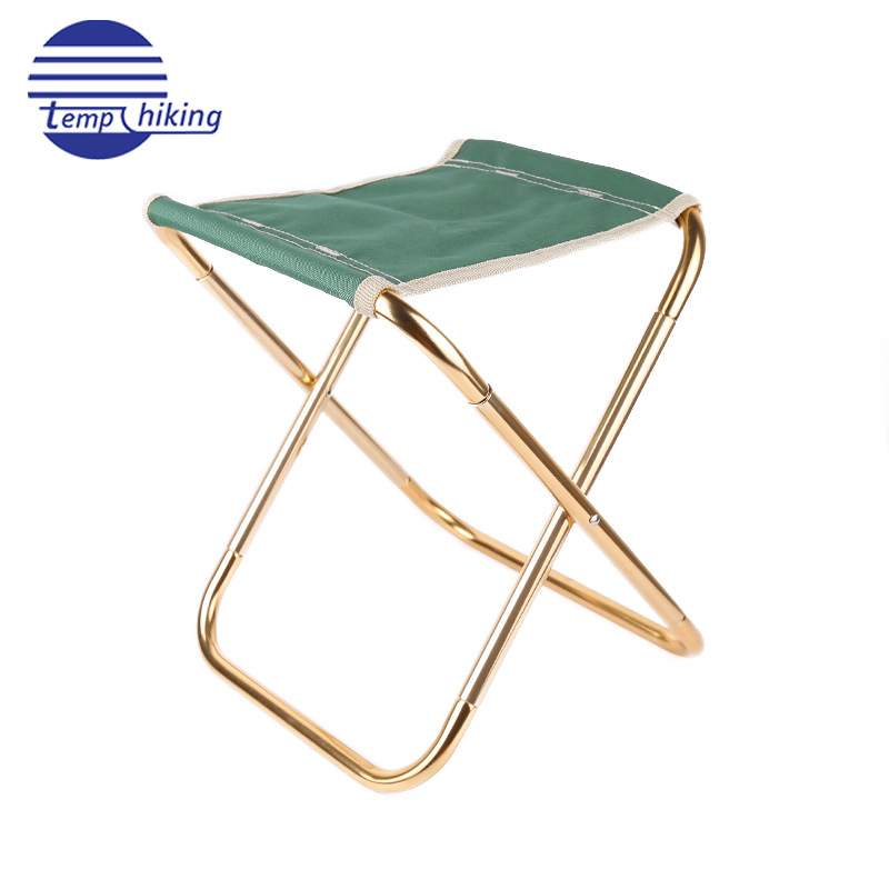 Multi-color Multi--Outdoor Folding Stool Aluminium Alloy Fishing Stool Large Size Medium Train Stool Portable Outdoor Stool