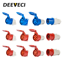 цена на 3P 4P 5P Waterproof Industrial Aviation Plug and Socket 16A 32A  Explosion-proof Plug and Socket