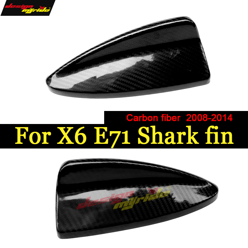 Carbon Fiber Auto Roof Decor Antenna Shark Fin BMW 2008-2014 X6 E71