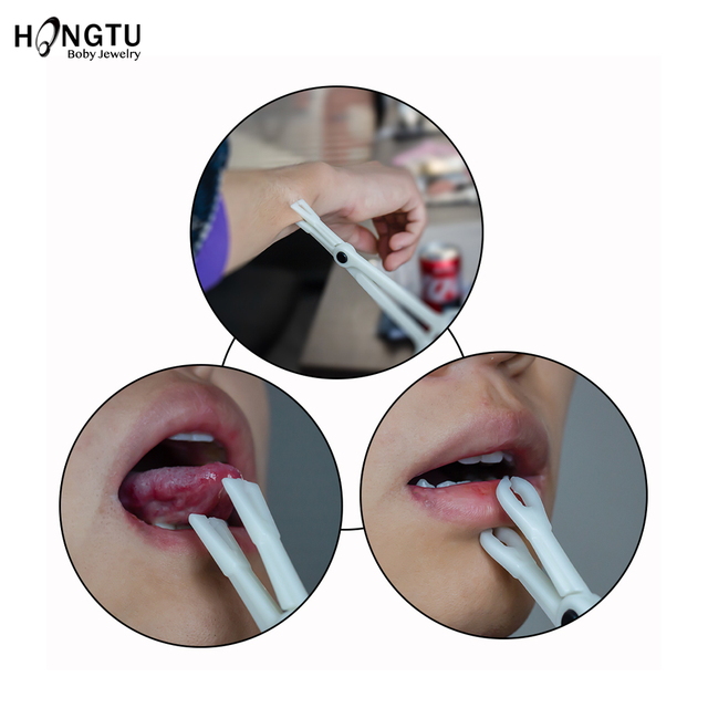 1PC Profession Acrylic Disposable Body Piercing Plier Plastic Clamp Body Ear Lip Navel Nose Tongue Eyebrow Piercing Forcep Tool 1