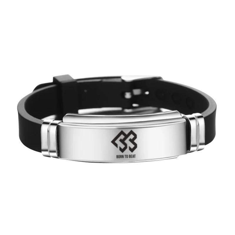 k pop btob logo stainless steel bracelet kpop btob adjustable wristband unisex btob fans support gift drop shipping charm bracelets aliexpress aliexpress