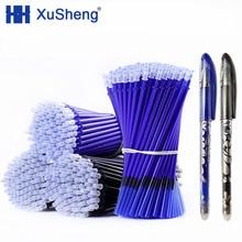 2+ 50 шт/набор 0,5 мм синие Черные чернила гелевая ручка стержень со стираемыми чернилами стираемая ручка моющаяся ручка школьные канцелярские принадлежности