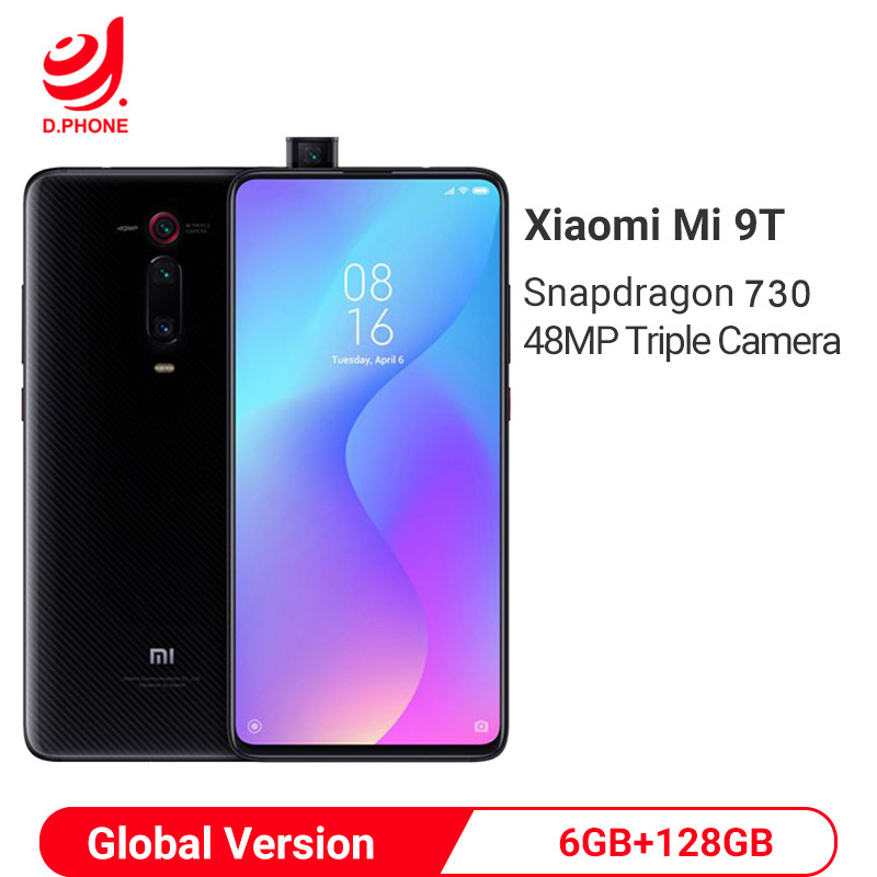 Global Version Xiaomi Mi 9T 9 T 6GB 128GB Snapdragon 730 Octa Core 6.39'' AMOLED 48MP Cameras 4000mAh NFC Smartphone